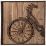 Cheung's Rattan Metal Bicycle Wall Art