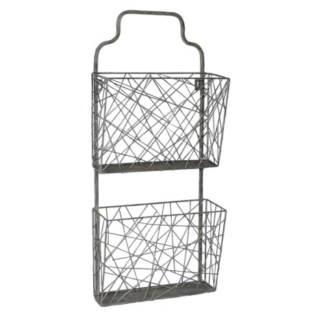 Cheung's Rattan Wall Mail Organizer in Silver