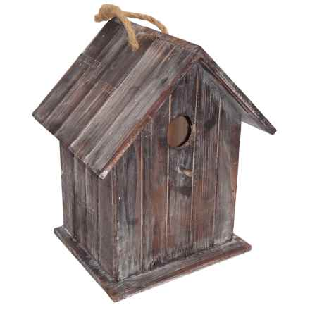 Cheung's Rattan Wood Birdhouse with Rope Handle in Brown - Closeouts