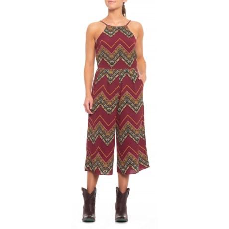 Image of Chevron Print Jumpsuit - Sleeveless (For Women)