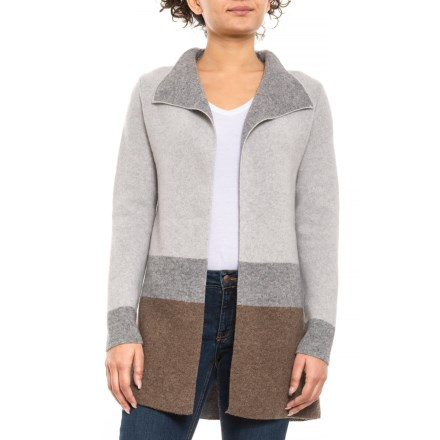 6786ceb810 Chiaramente Made in Italy Color-Block Double-Knit Cardigan Sweater (For  Women)