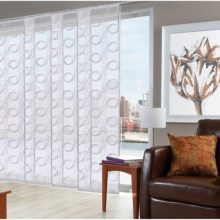"Chic Patio Door Panel Curtain Track Set - Adjusts 45-78"" in Swirl - Closeouts"