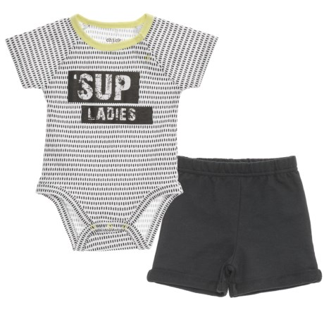 Chick Pea Baby Bodysuit and Shorts Set - Short Sleeve (For Infant Boys) in Black