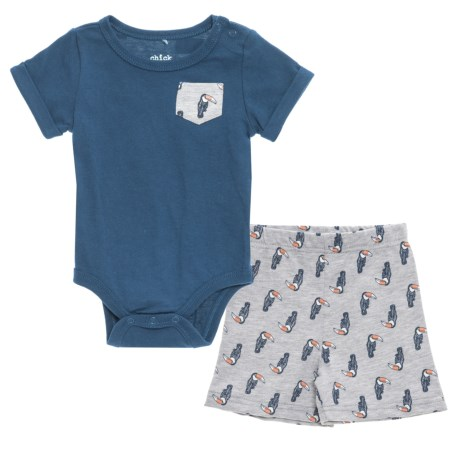 Chick Pea Baby Bodysuit and Shorts Set - Short Sleeve (For Infant Boys) in Navy