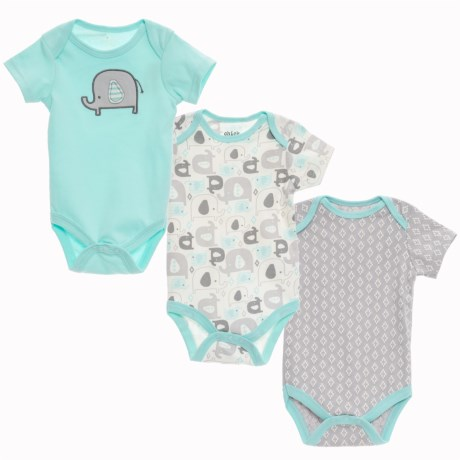 Chick Pea Baby Bodysuits - 3-Pack, Short Sleeve (For Infants) in Mint