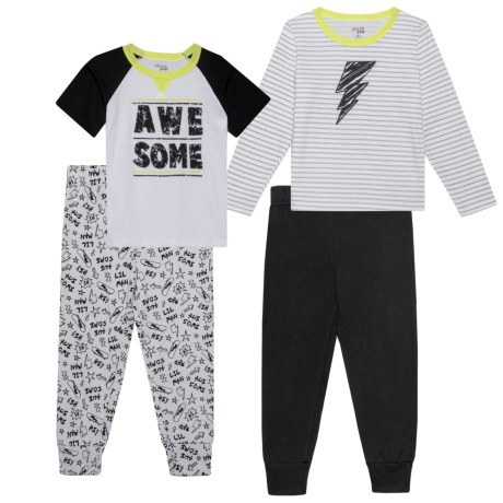 Chick Pea Shirt and Joggers Set - 4-Piece, Long Sleeve (For Toddlers) in Black