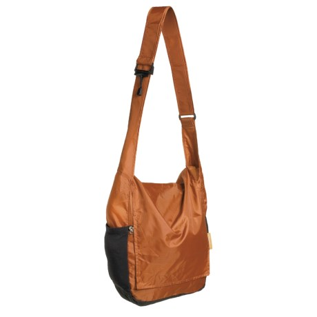 Chicobag Packable Messenger Bag - Recycled Materials in Rust