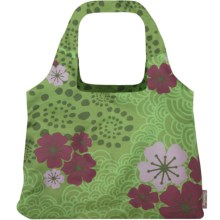 Chicobag Vita Blossom Reusable Shopping Tote Bag in Blossom Green Tea - Closeouts