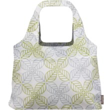 Chicobag Vita Contemporary Reusable Shopping Tote Bag in Leaf Square - Closeouts