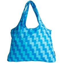 Chicobag Vita Geometric Reuseable Shoppers Tote Bag in Blue Ladder - Closeouts