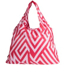 Chicobag Vita Geometric Reuseable Shoppers Tote Bag in Fushia Angles - Closeouts