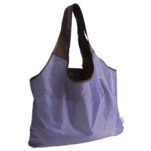 Chicobag Vita Repete Shopping Tote Bag- Recycled Materials in Eggplant - Closeouts