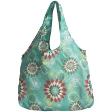 Chicobag Vita Reuseable Shoppers Tote Bag - Solstice Collection in Aqua Danelion - Closeouts