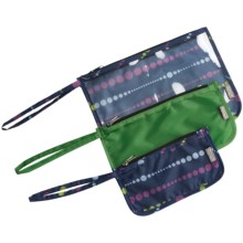 ChicoBag Zip Travel Pouches - Set of 3 in Midnight Swells - Closeouts