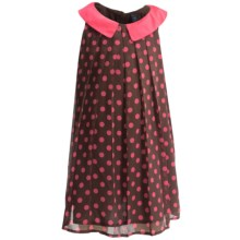 Chiffon Polka-Dot Dress - Fully Lined, Sleeveless (For Infant and Toddler Girls) in Pink Dot - 2nds