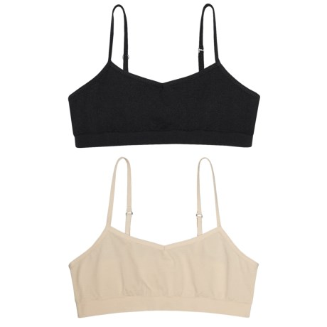 Chili Peppers Seamless Bralette - 2-Pack (For Big Girls) in Nude/Black