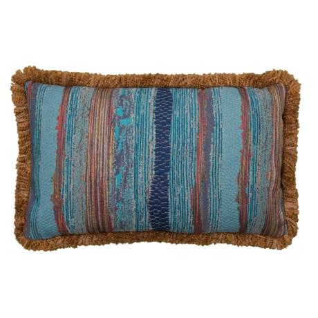 Image of Chindi Marina Throw Pillow with Fringe Trim - 14x22? Feathers