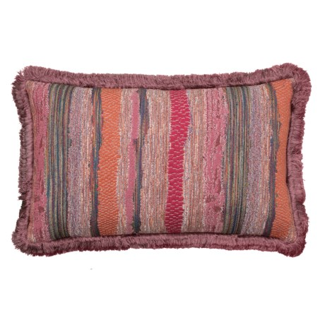 Image of Chindi Zinnia Throw Pillow with Fringe Trim - 14x22? Feathers