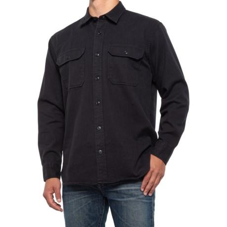 Chino Twill Shirt - Long Sleeve (For Men) - BLACK (M )