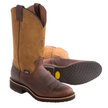 """Chippewa 12"""" Worn Saddle Cowboy Boots - Round Toe (For Men) in Brown - Closeouts"""