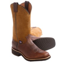 "Chippewa 12"" Worn Saddle Cowboy Boots - Square Toe (For Men) in Brown - Closeouts"