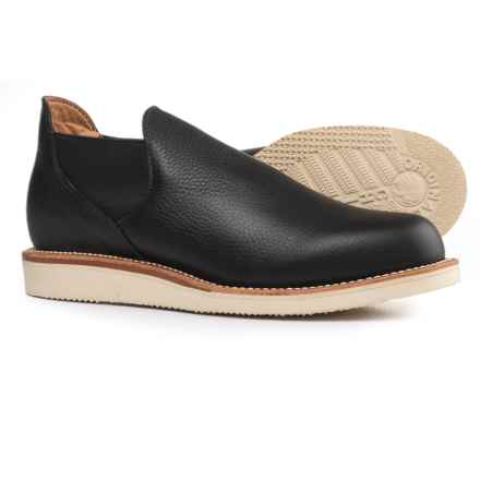 Chippewa 1967 Original Romeo Shoes - Leather, Slip-Ons (For Men) in Vermont Black - Closeouts