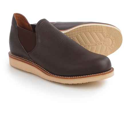 Chippewa 1967 Original Romeo Shoes - Leather, Slip-Ons (For Men) in Vermont Coffee - Closeouts