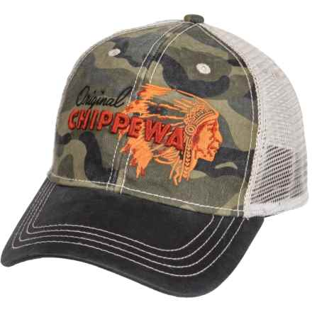 Chippewa 3D Embroidered Baseball Cap (For Men) in Multi - Closeouts