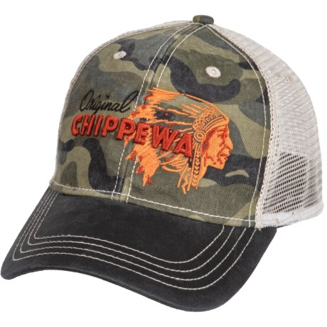 Chippewa 3D Embroidered Baseball Cap (For Men) in Multi