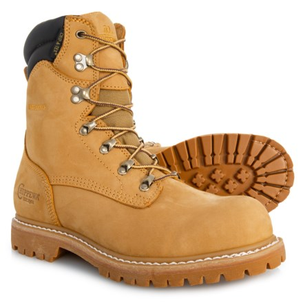 "0f3d4bab5c8997 Chippewa 8"" Burkhart Work Boots - Waterproof, Steel Safety Toe, Nubuck (For"