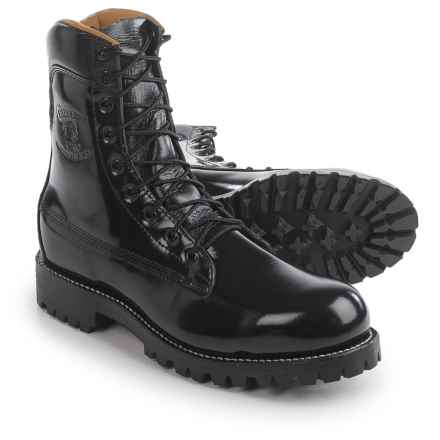 """Chippewa 8"""" Polishable Work Boots - Steel Safety Toe (For Men) in Black - 2nds"""
