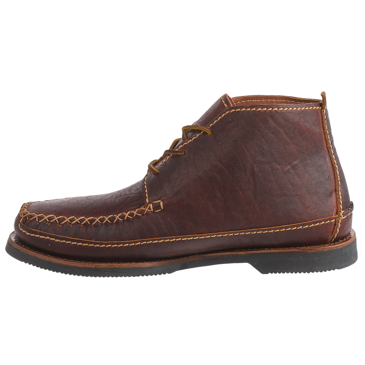 chippewa american bison leather chukka boots for