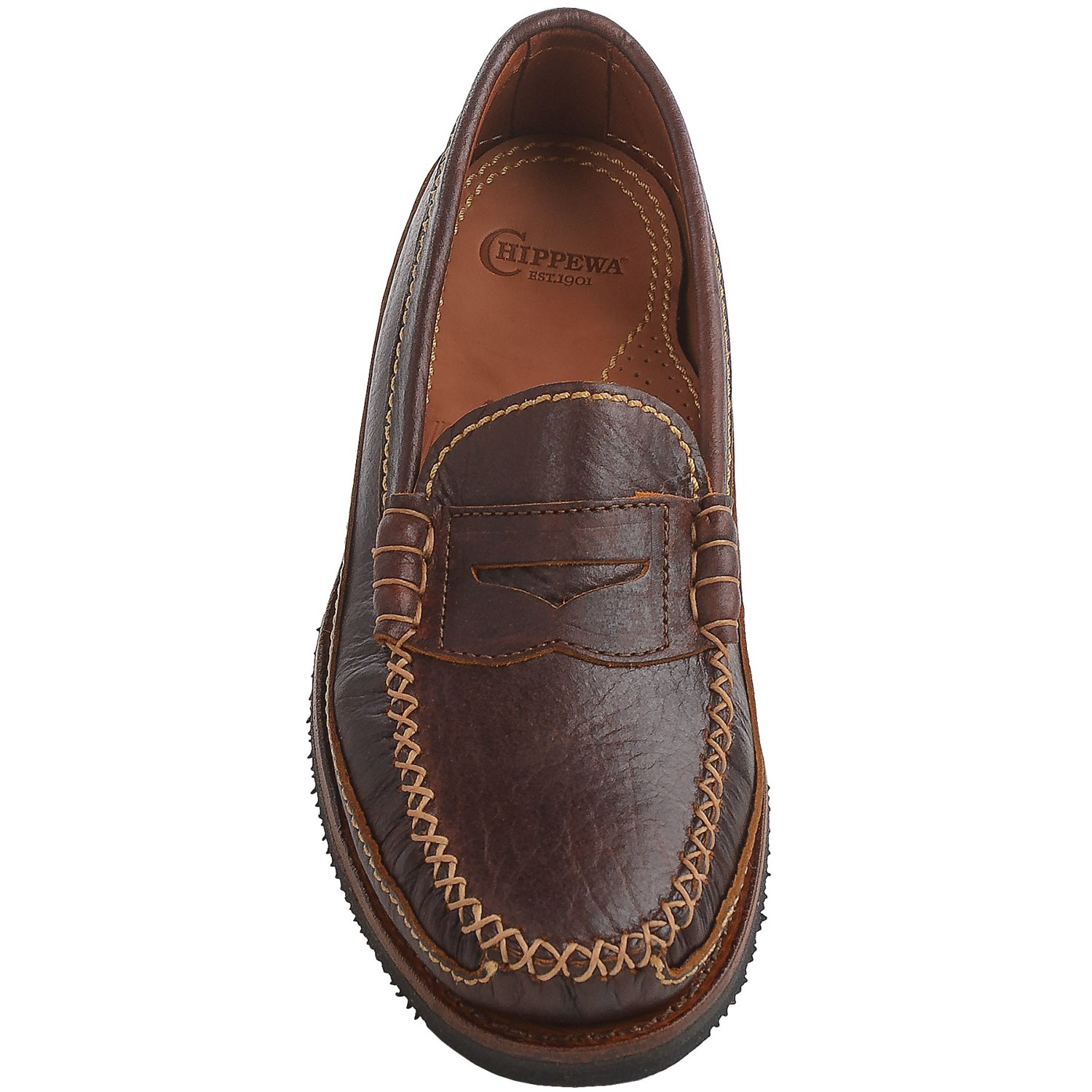 Chippewa American Bison Leather Penny Loafers (For Men ...