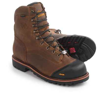 """Chippewa Apache Composite Toe Work Boots - Waterproof, 8"""" (For Men) in Golden Sand - 2nds"""