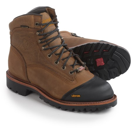 """Chippewa Apache Leather Work Boots - Waterproof, Insulated, 6"""" (For Men) in Golden Sand"""