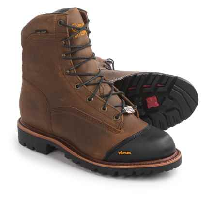 """Chippewa Apache Outdoor Leather Boots - Waterproof, Insulated, 8"""" (For Men) in Golden Sand - 2nds"""
