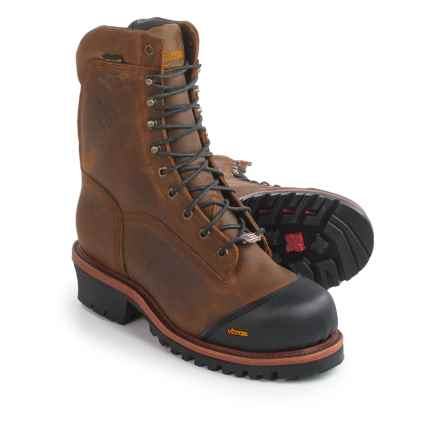"""Chippewa Apache Work Boots - Composite Safety Toe, Waterproof, 9"""" (For Men) in Golden Sand - 2nds"""
