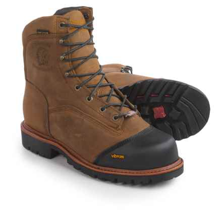 """Chippewa Apache Work Boots - Composite Safety Toe, Waterproof, Insulated, 8"""" (For Men) in Golden Sand - 2nds"""