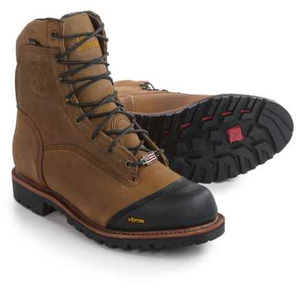 "Chippewa Apache Work Boots - Waterproof, 8"" (For Men) in Brown - 2nds"