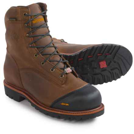 """Chippewa Apache Work Boots - Waterproof, Insulated, 8"""" (For Men) in Brown - 2nds"""