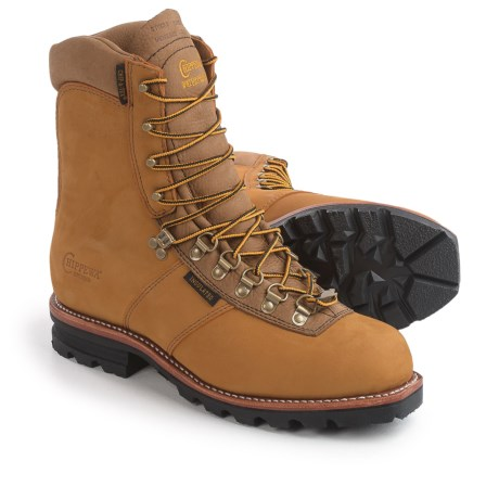 """Chippewa Arctic Rugged Leather Work Boots - Waterproof, Insulated, 9"""" (For Men) in Golden Tan"""