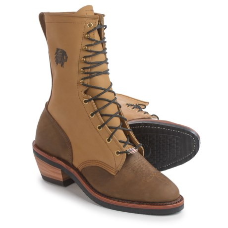 "Chippewa Bay Golden Bay Apache Boots - Leather, 10"" (For Men) in Tan"