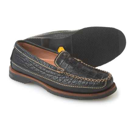 Chippewa Black Caiman Loafers - Leather (For Men) in Midnight - Closeouts