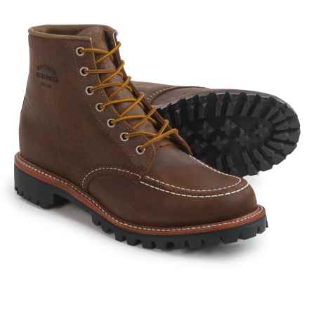 "Chippewa Bomber Mountaineer Moc-Toe Field Boots - Leather, 6"" (For Men) in Brown - Closeouts"