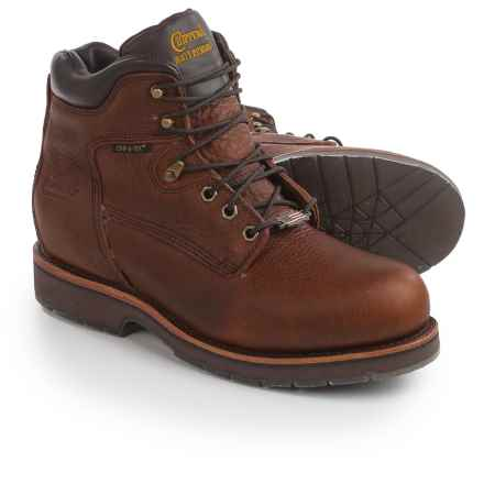 "Chippewa Country Leather Work Boots- Waterproof, Steel Toe, 6"" (For Men) in Tan - 2nds"