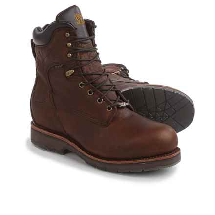"""Chippewa Country Work Boots - Steel Safety Toe, Waterproof, Leather, 8"""" (For Men) in Brown - 2nds"""