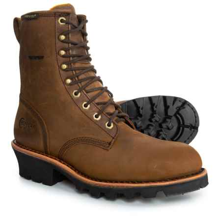 Chippewa Ellicott Logger Work Boots - Steel Safety Toe, Waterproof, Insulated (For Men) in Brown