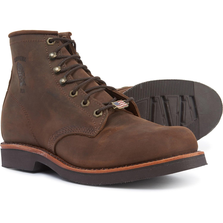 "403589e0cc0 Chippewa Ellison 6"" Leather Work Boots - Factory Seconds (For Men)"