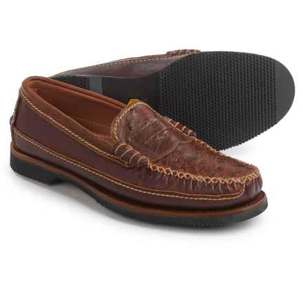 Chippewa Full-Quill Ostrich Leather Loafers - Slip-Ons (For Men) in Cognac - Closeouts