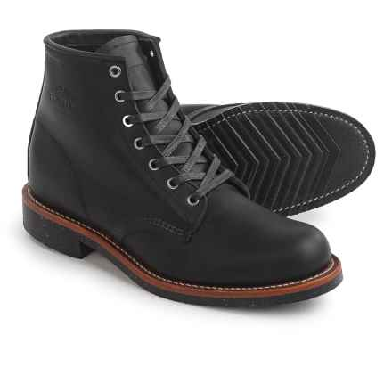 """Chippewa General Utility Service Boots - Leather, 6"""" (For Men) in Black - Closeouts"""